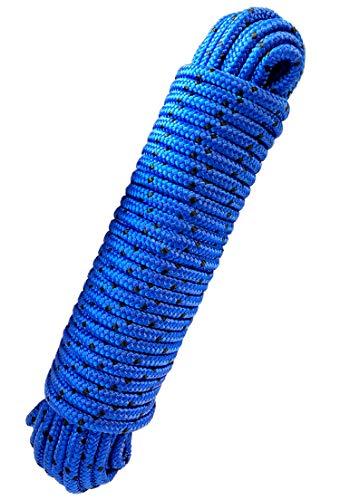 Green Home - Seil 8 mm 20 m Polypropylenseil blau / schwarz - Bruchlast: 700kg, 20 m x 8 mm