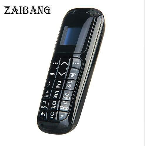 LONG CZ V2 3 in 1 The Worlds Smallest Cell Phone Bluetooth Dialer Bluetooth Cuffie Micro SIM Card 18 Grammi (Nero)