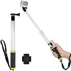Myarmor impermeabile allungabile telescopica monopiede selfie stick palo e impugnatura galleggiante (60CM/23.6in) con treppiede e telecomando per auto per GoPro Hero 233+ 45, Gopro Hero 4sessione