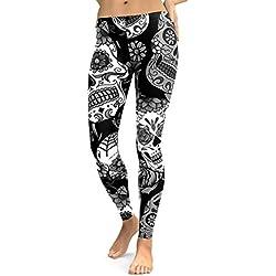 Pantalones Yoga Mujeres, ❤️Xinantime Pantalones de yoga de cintura alta para mujeres Running Fitness Leggings Pants Ropa de ejercicio (S, ❤️Negro)