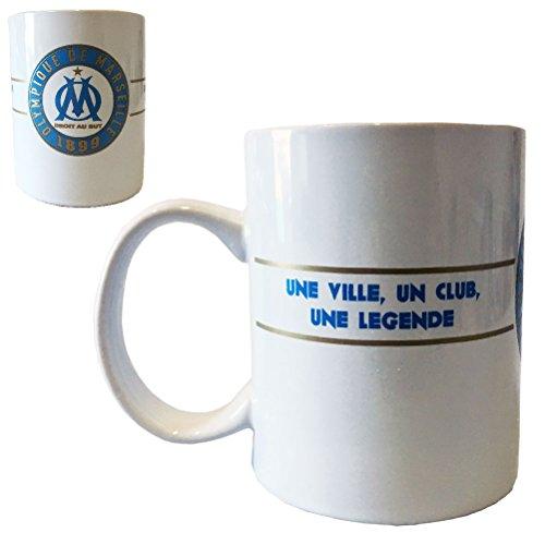 OLYMPIQUE DE MARSEILLE Mug, Céramique, Blanc, 14 x 9 x 11 cm