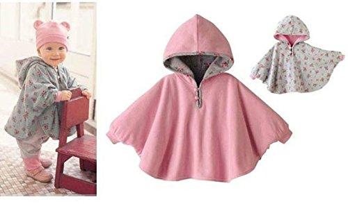 TININNA Lindo Capa Poncho con Capucha,Abrigo con Sombrero Infantil del Cabo del Poncho con Capucha de la Felpa de la… 2