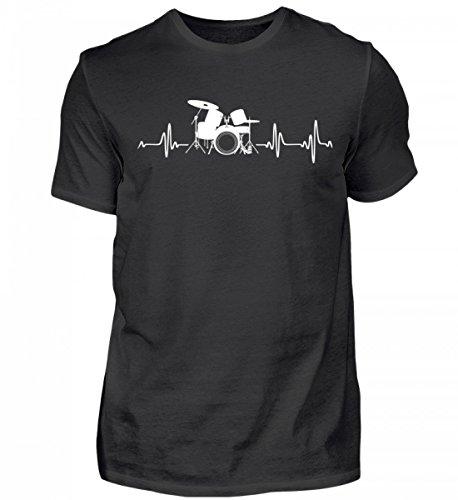 Schlagzeug Shirt · Drummer · Geschenk für Schlagzeuger · Motiv: Drum-Kit Heartbeat - Herren Shirt