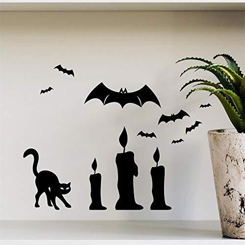 HARRYSTORE Happy Halloween Hintergrund Wandsticker Fenster Zu Hause Dekoration Aufkleber Dekor