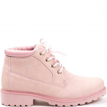 Ideal Shoes - Bottines style randonnée Milia Rose