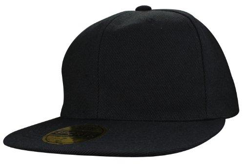 Casquette Fitted | Caps Blank vides à broder ou imprimer en Casquette Hip Hop dans 7 couleurs uni noir, blanc, orange jaune, vert neon, rouge, pink sc