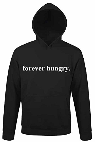 forever-hungry-awesome-food-funny-design-quote-pullover-men-women-uomo-donna-unisex-black-hoodie