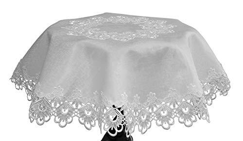 Doilies Spitzen-Tischdecken, rund, Heim-Dekoration, Weiß und Elfenbein, Spitze, weiß, 43
