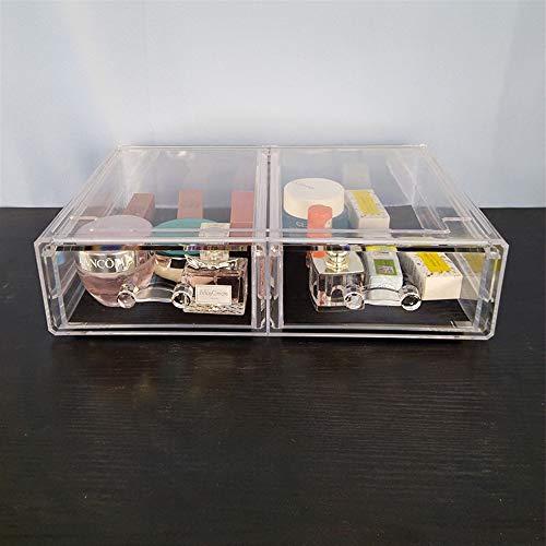 BinSanDa Home Kitchen Regal, Oversized Transparent Kosmetik Aufbewahrungsbox Schublade Lippenstift Make-up Box Acryl Kunststoff Desktop Rack, 4chou