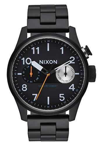 Nixon Herren Chronograph Quarz Uhr mit Edelstahl Armband A976 001-00