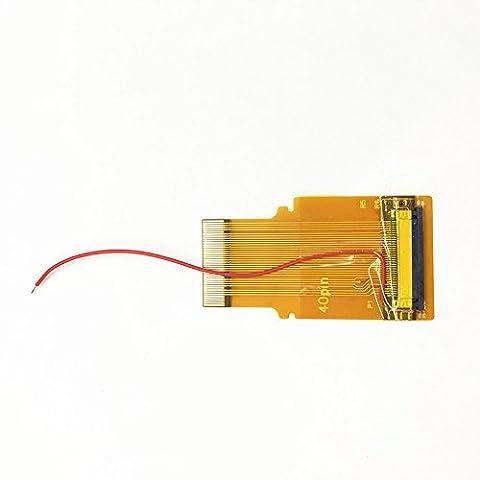 Haodasi Backlight Backlit Rétroéclairage écran rétroéclairé mod adaptateur câble flexible câble ruban Adapter Flex Ribbon Cable 40 Pin Type B pour Nintendo Gameboy Advance GBA