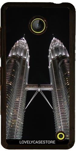 custodia-per-nokia-lumia-630-petronas-tower-di-kuala-lumpur-malesia-luce-di-notte-citt