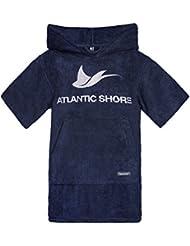 Atlantic Shore | Surf Poncho (Unisex) ➤ Peignoir / Déshabillé de cotton de haute qualité ➤ Kids / Enfants ➤ Bleu foncé