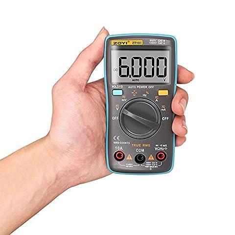 Balai ZT101 Digital Multimeter, Portable Auto-Ranging Digital Multimeter Blau (8 Extended Range)