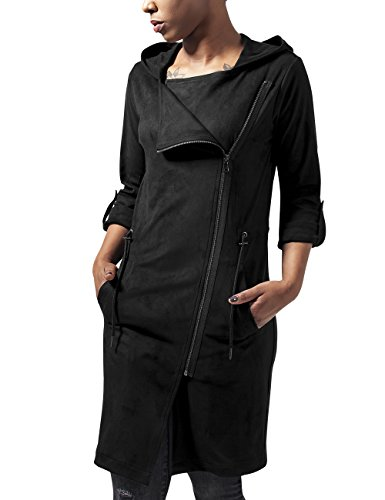 Urban Classics Ladies Imitation Suede Parka, Giacca Donna, Nero (Black 7), 44