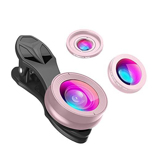 SturdCelle APEXEL SJ3 Optische Kamera 230 Grad Fisheye 0.36X Weitwinkel 15x Makro-Objektiv, roségold