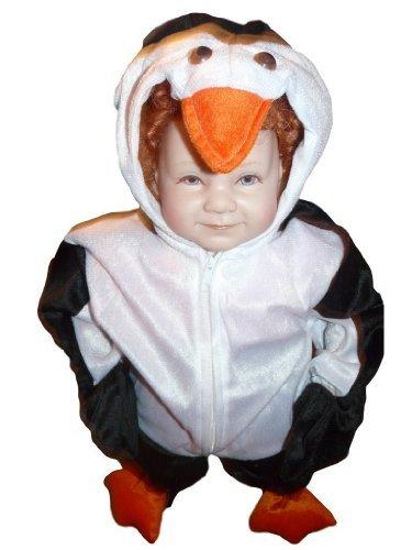 Pinguin-Kostüm, J35 Gr. 86-92, für Klein-Kinder, Babies, Pinguin-Kostüme Pinguine Kinder-Kostüme Fasching Karneval, Kinder-Karnevalskostüme, Kinder-Faschingskostüme, - Plüsch Pinguin Kostüm