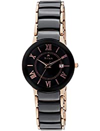 53274874d21 Titan Ceramic Analog Black Dial Women s Watch -95016WD01