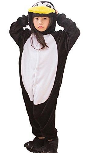 DATO Enfant Pyjama Pingouin Noir Cosplay Onesie Animaux Costume Unisexe Vetements De Nuit