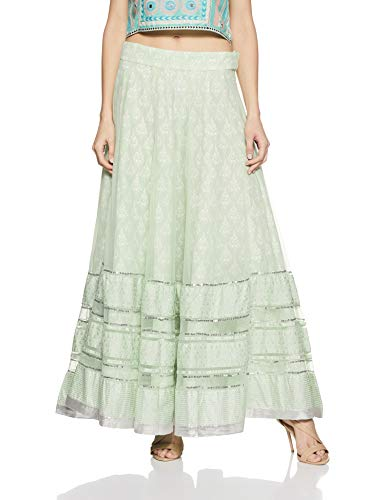 W for Women Full Maxi Skirt (18FE55412-51344_Green_WM)