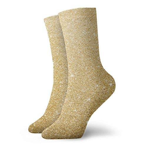 Gold Frosted Background Men Women Novelty Funny Crazy Crew Sock Printed Sport Athletic Socks 30cm Long Personalized Gift Socks - Frosted Weiß-muster