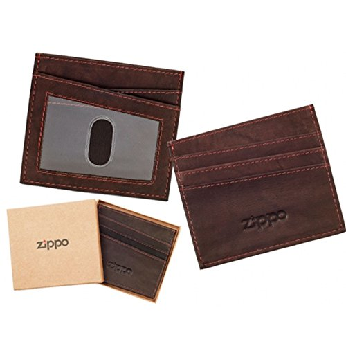 Price comparison product image Zippo Leather Credit Card Holder - Brown