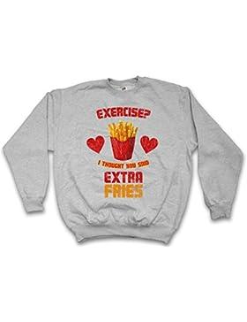 Urban Backwoods Extra Fries Sweatshirt – Dieta Patatas Fritas Exercise ? I Thought You Said Diät Diet Fun Fast...