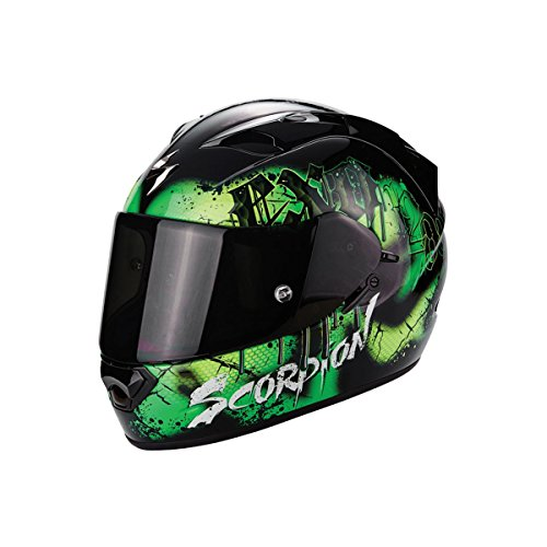 Scorpion Casco Moto EXO-1200 Air Tenebris Black/Green