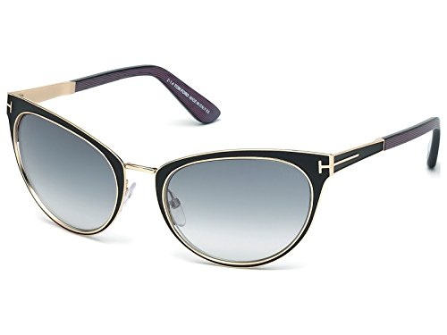 Tom Ford - Damensonnenbrille - FT0373 01B 56 - Nina (Tom Ford Brille Runde)