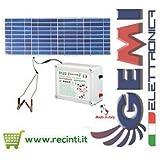 RECINTO ELETTRICO ELETTRIFICATORE B12/2 12V EXTRAFORTE CON PANNELLO SOLARE