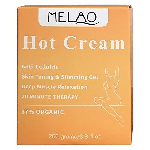 Hot Cream wärmende Creme zur Reduzierung von Cellulite Sport Creme Wärme Effekt Durchblutungsfördernd