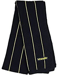 BRAND NEW MENS WRANGLER SCARF NAVY WITH YELLOW STRIPS SPECIAL SALE PRICE£6.99