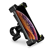 ‏‪UGREEN Bike Phone Holder, Bicycle Motorcycle Phone Mount Stainless Steel Handlebar Mount 360 Rotation on Stroller, Treadmill for 4.7-6.5 inch iPhone X Xs Max, Huawei P30 Pro, Samsung S10, S9, S8, etc‬‏
