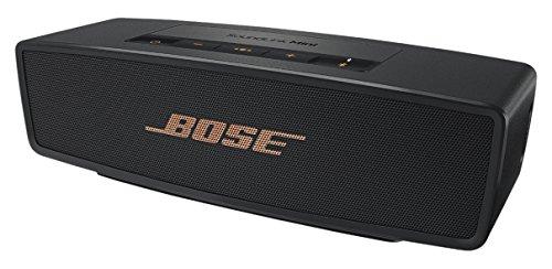 Bose Soundlink Mini II - Altavoz portátil Bluetooth, color negro y dorado