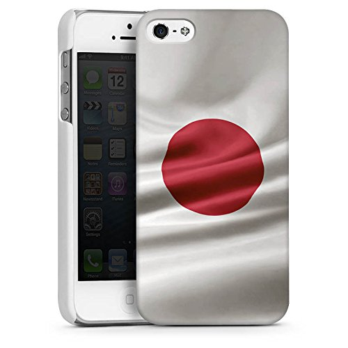 Apple iPhone 4 Housse Étui Silicone Coque Protection Japon Drapeau Drapeau CasDur blanc