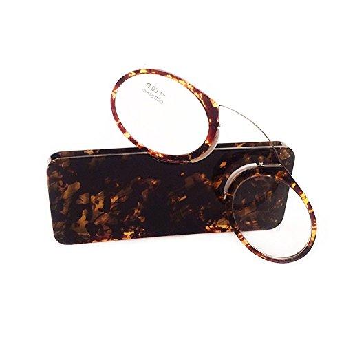 Zhuhaixmy Unisex Pince Nez Stil Nase Stillstehen Pinching Portable Lesebrillen / Keine Spiegel Beine Lesung Brille