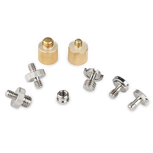SmallRig 1/4 3/8 Schrauben für DSLR Kamera, Stativ oder Schnellwechselplatte (8er Pack)