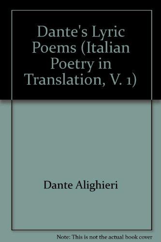 Dantes Lyric Poems