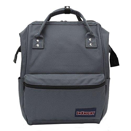ENKNIGHT Casual Schule Rucksäcke Nylon Reise Rucksack Schoolbags Tagesrucksack, Kinder Damen Mädchen, grau - Ds Medikament