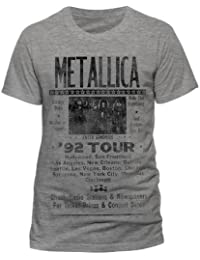 Official Metallica - 1992 Poster - T Shirt in Sports Grey (Extra Large)