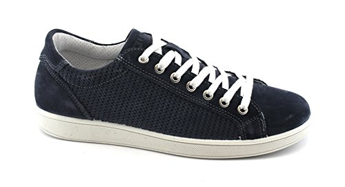 IGI&CO 1124044 Jeans Blu Scarpe Uomo Sneakers Lacci Camoscio Blu Comprar Barato Amplia Gama De 2018 Nueva VgjlCY5z