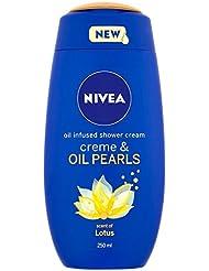 NIVEA Creme and Oil Pearls Lotus Shower Cream, 250 ml