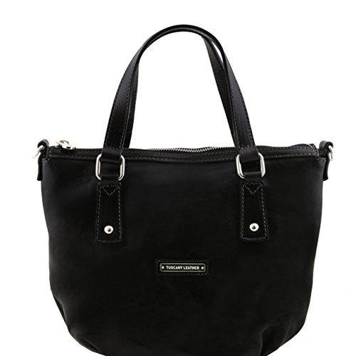 Tuscany Leather Olga - Borsa shopping in pelle Rosso Borse donna a mano in pelle Nero