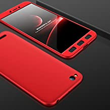 Oppo A37/A37F Ipaky 360 Front Back Cover & Temper Glass( Red)