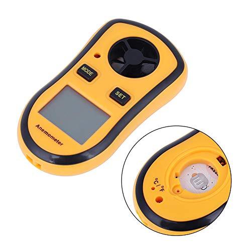 Digitales Anemometer, GM8908 Tragbares Windgeschwindigkeits-Temperaturmessgerät mit LCD-Display zum Schießen von HVAC-Drohnenflügen