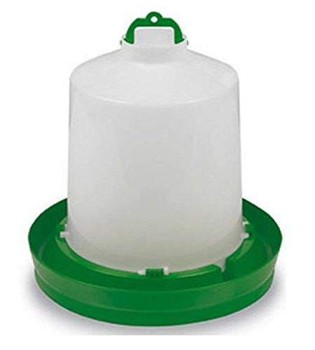 Abreuvoir plastique vert avec bouchon et anse 8,5L