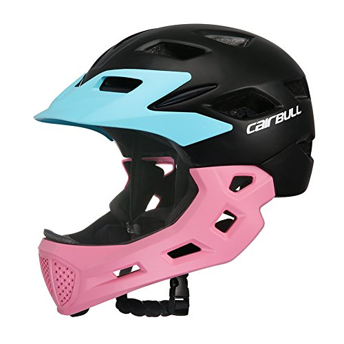 Zantec Kinder Fahrradhelm, Full Face CoveRot Helm Bike Motorrad Kinder Skating Sport Sicherheit Schutz Pink (Skating Helm)