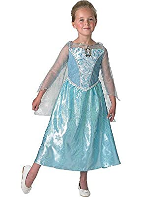 Niña–Producto oficial Disney 'Frozen' Anna o Elsa Disfraz