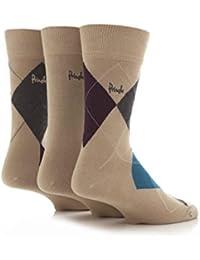Pringle Mens 3 Pair Strathaven Argyle Design Cotton Socks