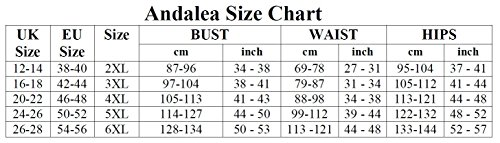 SW/101 Langes Kleid für Damen Übergroße 46-56 von Andalea Mehrfarbig